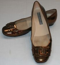 Anne Klein New York Slip On Shoes 6 1/2 M Metallic Brass Copper Flats