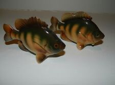 Vintage Realistic Fish Salt & Pepper Shakers - Rare Bluegill w/ Relco stickers