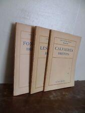 MEMORANDOS X 3 LAS FUENTES - LA SANTO - LA CRUCEROS BRETONES 1920-23 P.GRUYER