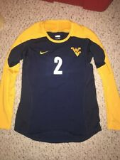Nike West Virginia Mountaineers #2 Womens Volleyball L/S Navy Game Jersey *L*