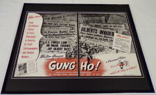 1943 Gung Ho WWII Movie 16x20 Framed ORIGINAL Industry Advertisement