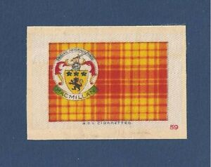 MACMILLAN CLAN TARTAN Coat of Arms 1922 original printed silk Tartan Finlaystone