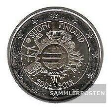 Finnland 2012 Stgl./unzirkuliert 2012 2 Euro 10 Jahre EURO Bargeld
