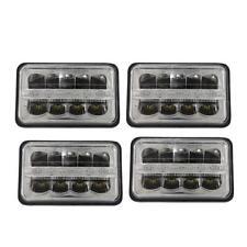 """4PC 4x6"""" LED Headlights For Kenworth W900B/L T800 T600 T400 Peterbilt 379 357"""