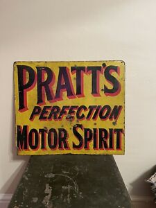 Enael Sign Double Sidded Pratts Perfection Motor Sprirt