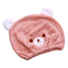 Toalla de Baño Gorra Sombrero Gorro de Ducha Cabello seco absorción de niños