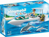 6981 Playmobil Diving Trip with Floating Speedboat Family Fun Suitable for ages