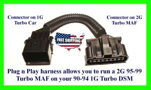 DSM 1G to 2G MAF Adapter Harness 90-94 to 95-99 MAS Eclipse Talon Laser Turbo
