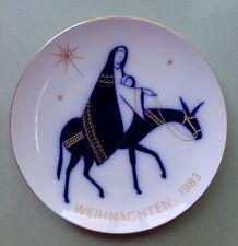 KPM BERLIN Modern Art Design WEIHNACHTSTELLER 1983 CHRISTMAS PLATE FLIGHT EGYPT