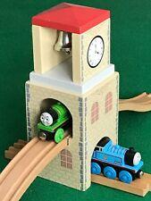 CLOCK BELL TOWER & TRACKS for THOMAS & Friends Wooden Railway BRIO TRAIN  set
