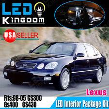 16X White LED Light Bulbs Interior Package Kit for 98-05 Lexus GS300 GS400 GS430