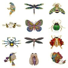 Enamel Rhinestone Crystal Dragonfly Butterfly Animal Insect Brooch Pin Jewelry