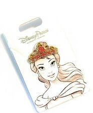 Disney Parks Princess Belle Tiara Rose Flair Jeweled Crown Pin  - NEW