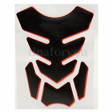Universal Red Motorcycle 3D Rubber Sticker Gas Fuel Oil Tank Pad Protector Decal