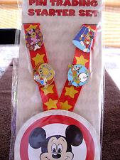 Disney * MICKEY MOUSE CLUB * CIRCUS * 4 pin Starter Set w/ Lanyard & Card