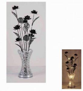 schwarze Blumen Lampe 80 cm Blumen in Vase Lampe