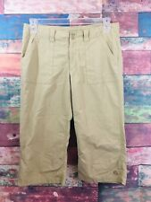 Nike Womens Khaki ACG All Conditions Grear camping hiking everyday Capris Size 8
