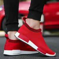 Mens  Casual Runners Comfy Knit Gym Shoes Trainers Slip On Sock Walking Sneakers