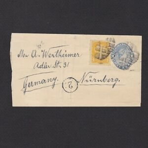 CANADA, Pre-stamped cover to Nurnberg Germany