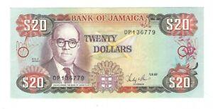 Jamaica - Twenty (20) Dollars 1987
