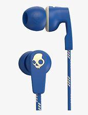 Skullcandy Strum NEW Blue Cream In Ear Headphones with Mic Remote, Free UK P&P.