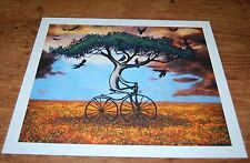 Esao Andrews MONSOON giclee tree bicycle 2008 rare abstract art print x/60 S/N