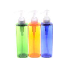 Clear Plastic 250ML Foaming Bottle Liquids Soap Dispensers Shampoo  Pump HC