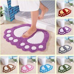 Bathroom Rugs Big Feet Bath Toilet Mat Carpet Doormat Floor Absorbent Non Slip