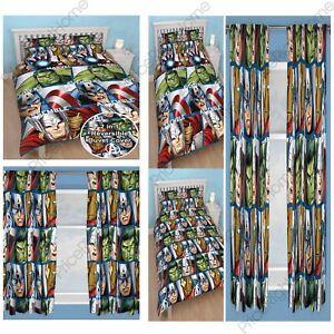 Avengers Shield Double Rotary Duvet & Curtains