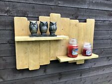 UPCYCLED RUSTIC PALLET WOOD SHELF / SHELVING CANDLES ORNAMENTS