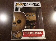 Funko Pop Vinyl Bobble-head Star Wars Chewbacca New In Box #63