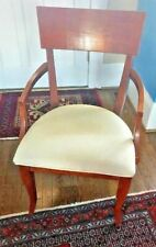 Klismos Armchair Universal Furniture Mid Century Modern Design Brown Wood Dining
