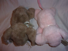 "Bearington 9"" Pig Prissy Rabbit Button Jr Plush Soft Toy Stuffed Animal"