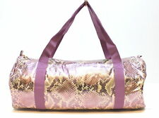 ROBERTO CAVALLI / JUST CAVALLI SNAKESKIN PURPLE / PINK LADIES GYM / WEEKEND BAG