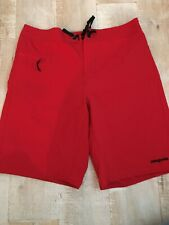 Mens Patagonia Worn wear Board swim trunks shorts Nylon Red Sz 34 EUC
