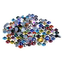 Crystal AB Hot Fix Rhinestones Glass Strass Hotfix Iron On Stones For Garment