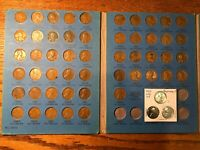 51 coin set + EXTRA REPROCESSED WAR cents set folder Album  Wheat 1941-1958 PDS