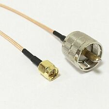 UHF PL259 male to SMA MALE plug RF adapter Assembly coax cable RG316 15cm NEW G