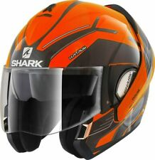 Shark Klapphelm Evoline Serie 3 HATAUM H.V. Gr.M schwarz orange NEU BikerWorld