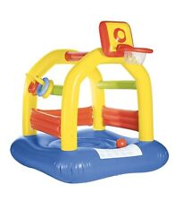 Playtive Junior Bounce House W/ Basketball Goal 62.9x62.9x70.8 (inches)