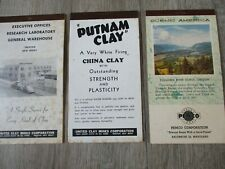 Vintage United Clay Mines Corp Advertising Small Pocket Note Pad calendar 1950's