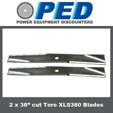 "2 x blades to fit 38"" cut Toro XLS380 ride on mower"