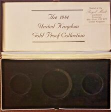 1984 £5 PROOF GOLD 3 COIN SET BOX &COA ONLY