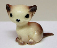 ➸ HAGEN RENAKER Cat Miniature Figurine Siamese Cat Kitten Sitting