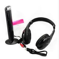 New 5 in 1 Wireless Headphone Earphone Black for MP3 MP4 PC TV CD FM Radio xp ca