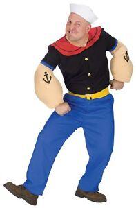 Original Popeye Kostüm mit Pfeife !! Karneval,Seemann,Popey,Anzug,Pirat,Fasching