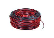 10m of Black/Red 2 x 0.50mm HiFi/Car Audio Loudspeaker/Speaker Cable/Wire