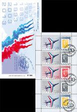 """PAF-C1 Carnet Porte-timbres """"60 ans Patrouille de France / Avion ALPHAJET"""" 2013"""