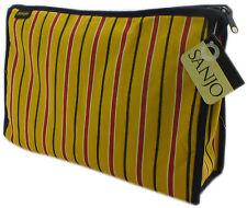 Sanjo para hombre de algodón a rayas en amarillo bolsa de cosméticos