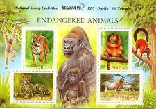 Endangered Animals 1998 Min sheet STAMPA  overprintMNH- Ireland